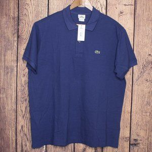 LACOSTE Men's short sleeve Polo Shirt Blue new